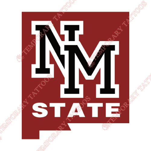 New Mexico State Aggies Customize Temporary Tattoos Stickers NO.5432
