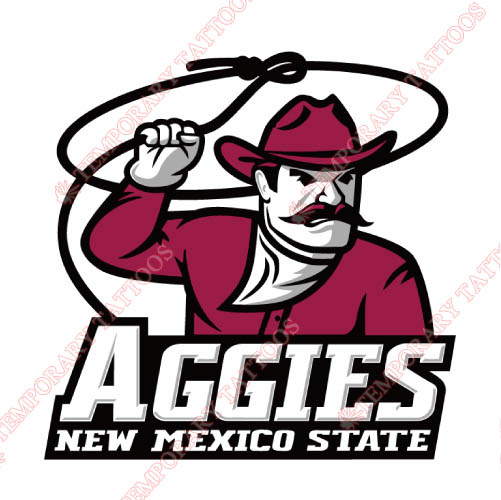 New Mexico State Aggies Customize Temporary Tattoos Stickers NO.5433