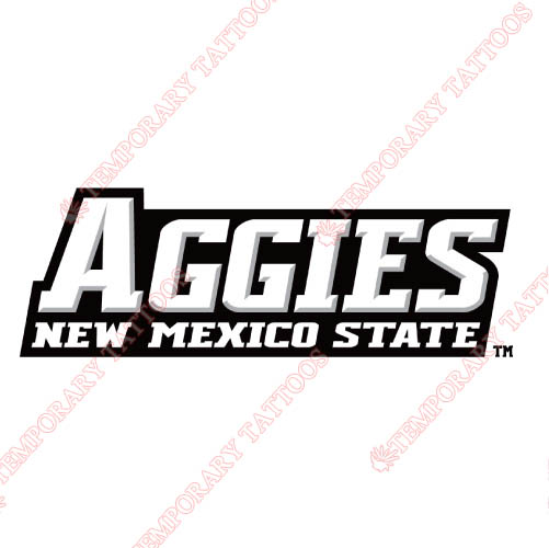 New Mexico State Aggies Customize Temporary Tattoos Stickers NO.5434