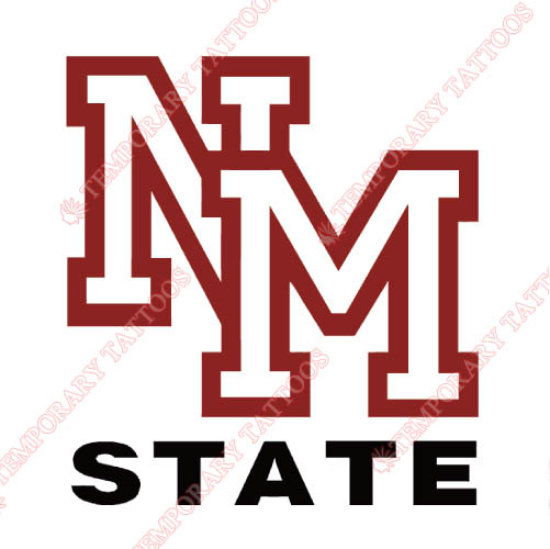 New Mexico State Aggies Customize Temporary Tattoos Stickers NO.5435