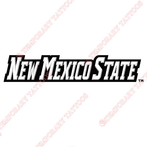 New Mexico State Aggies Customize Temporary Tattoos Stickers NO.5437