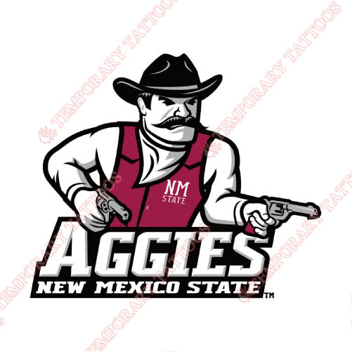 New Mexico State Aggies Customize Temporary Tattoos Stickers NO.5438