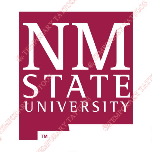 New Mexico State Aggies Customize Temporary Tattoos Stickers NO.5439