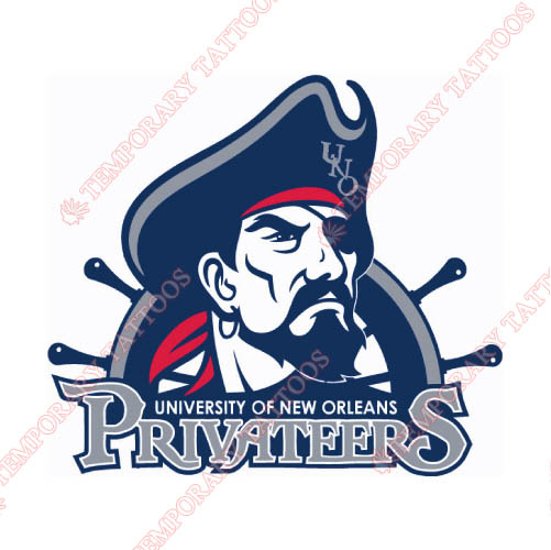 New Orleans Privateers Customize Temporary Tattoos Stickers NO.5442