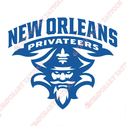 New Orleans Privateers Customize Temporary Tattoos Stickers NO.5446