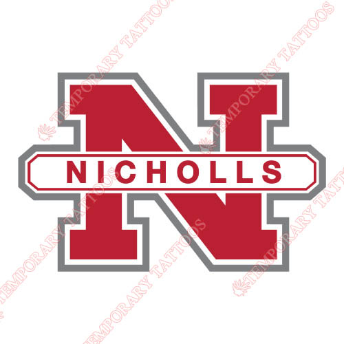 Nicholls State Colonels Customize Temporary Tattoos Stickers NO.5458