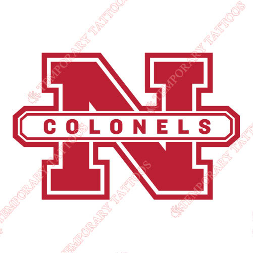 Nicholls State Colonels Customize Temporary Tattoos Stickers NO.5464