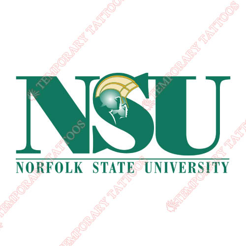 Norfolk State Spartans Customize Temporary Tattoos Stickers NO.5471
