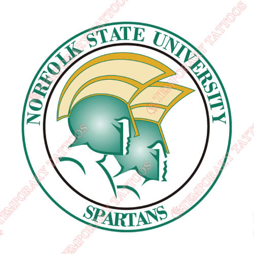 Norfolk State Spartans Customize Temporary Tattoos Stickers NO.5472