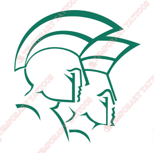 Norfolk State Spartans Customize Temporary Tattoos Stickers NO.5473