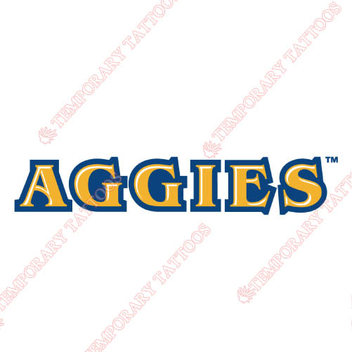 North Carolina A T Aggies Customize Temporary Tattoos Stickers NO.5476
