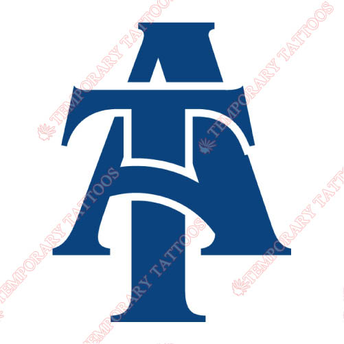North Carolina A T Aggies Customize Temporary Tattoos Stickers NO.5488