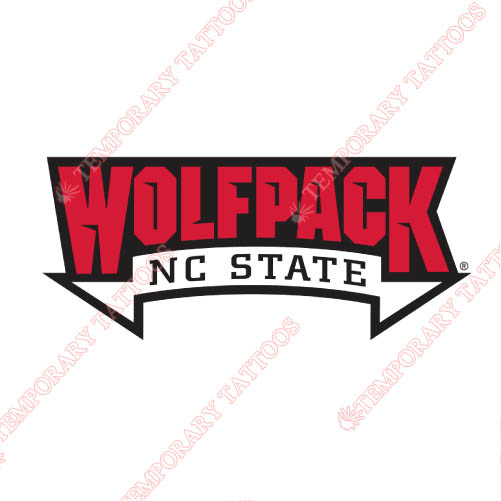 North carolina state wolfpack customize temporary tattoos stickers no 5496