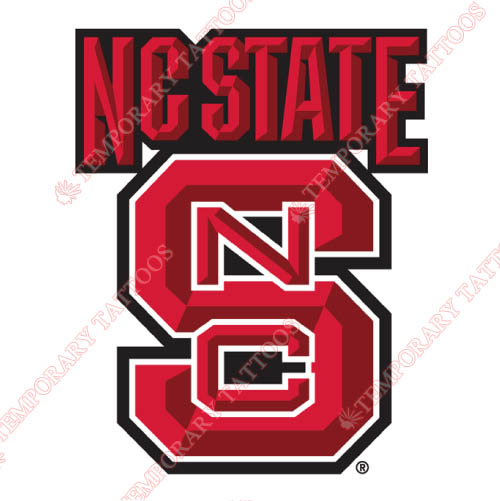 North Carolina State Wolfpack Customize Temporary Tattoos Stickers NO.5499