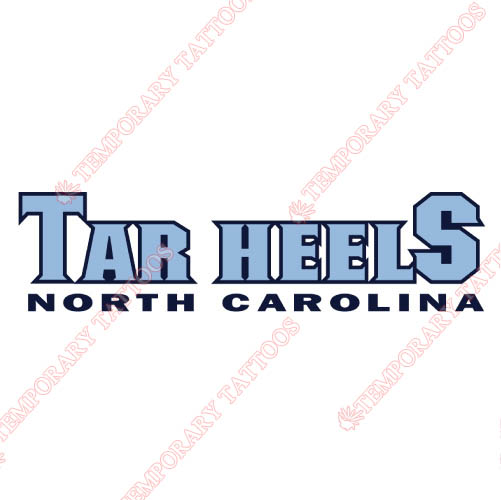 North Carolina Tar Heels Customize Temporary Tattoos Stickers NO.5516
