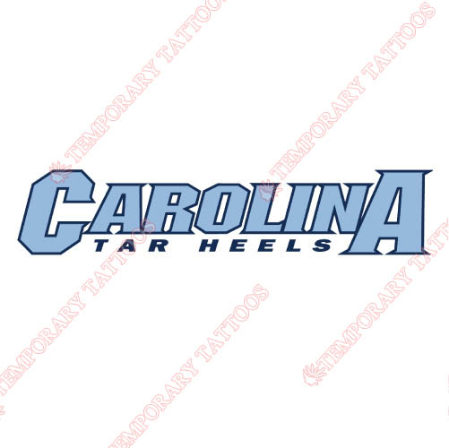 North Carolina Tar Heels Customize Temporary Tattoos Stickers NO.5518