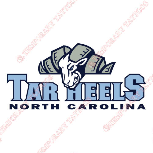 North Carolina Tar Heels Customize Temporary Tattoos Stickers NO.5521