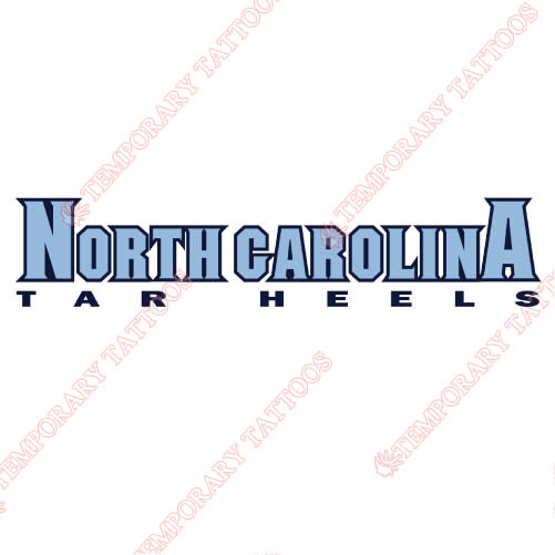 North Carolina Tar Heels Customize Temporary Tattoos Stickers NO.5523