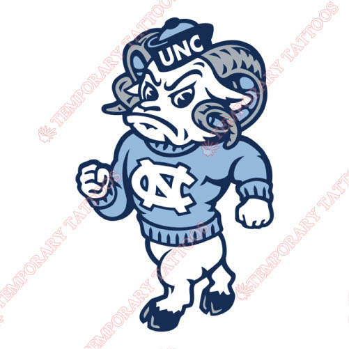 North Carolina Tar Heels Customize Temporary Tattoos Stickers NO.5524