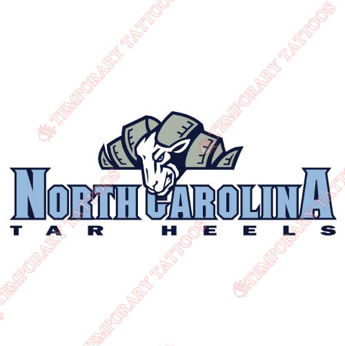 North Carolina Tar Heels Customize Temporary Tattoos Stickers NO.5525