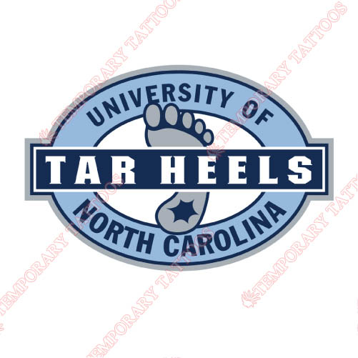 North Carolina Tar Heels Customize Temporary Tattoos Stickers NO.5527