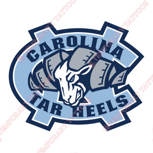 North Carolina Tar Heels Customize Temporary Tattoos Stickers NO.5529