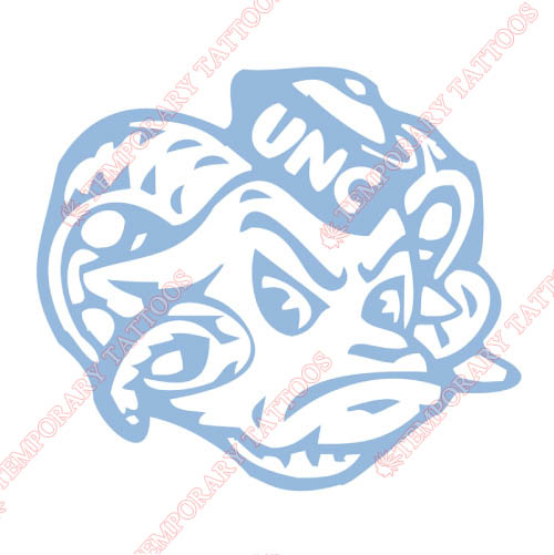 North Carolina Tar Heels Customize Temporary Tattoos Stickers No
