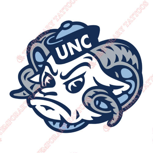 North Carolina Tar Heels Customize Temporary Tattoos Stickers NO.5531