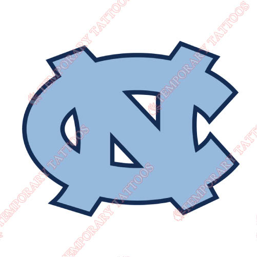 North Carolina Tar Heels Customize Temporary Tattoos Stickers NO.5532