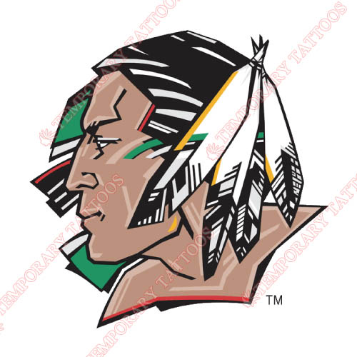 North Dakota Fighting Sioux Customize Temporary Tattoos Stickers NO.5584
