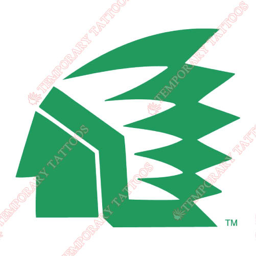 North Dakota Fighting Sioux Customize Temporary Tattoos Stickers NO.5587
