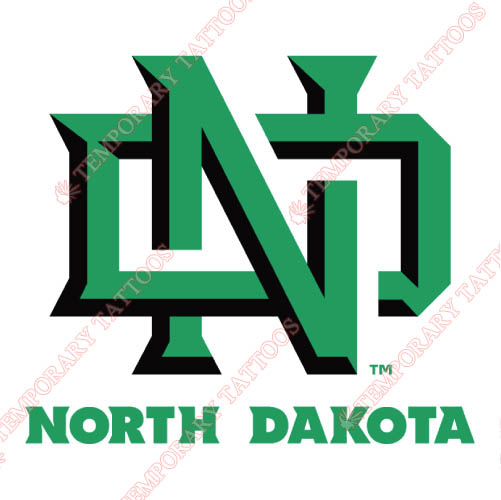 North Dakota Fighting Sioux Customize Temporary Tattoos Stickers NO.5588