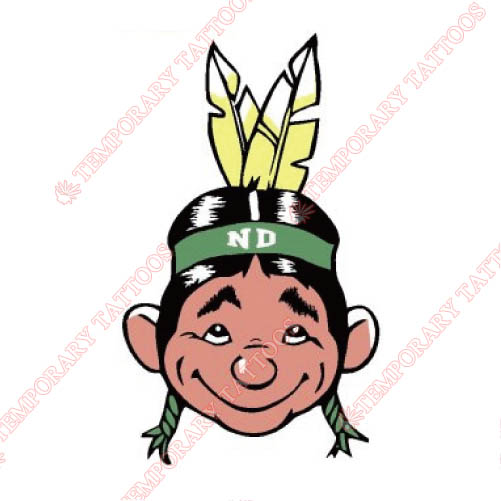 North Dakota Fighting Sioux Customize Temporary Tattoos Stickers NO.5590