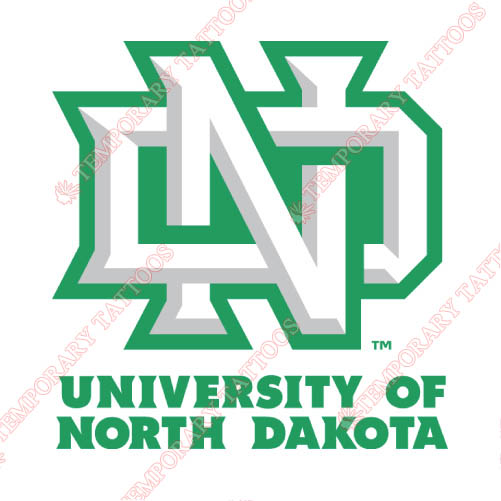 North Dakota Fighting Sioux Customize Temporary Tattoos Stickers NO.5591