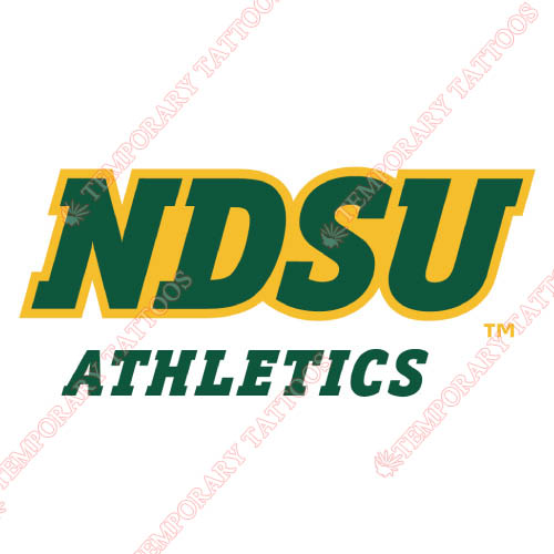 North Dakota State Bison Customize Temporary Tattoos Stickers NO.5592