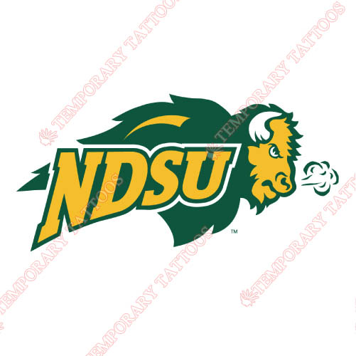 North Dakota State Bison Customize Temporary Tattoos Stickers NO.5593