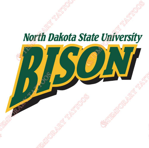 North Dakota State Bison Customize Temporary Tattoos Stickers NO.5594