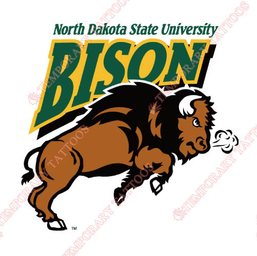 North Dakota State Bison Customize Temporary Tattoos Stickers NO.5595