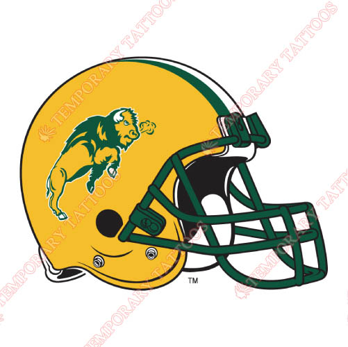 North Dakota State Bison Customize Temporary Tattoos Stickers NO.5596