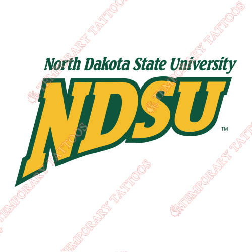 North Dakota State Bison Customize Temporary Tattoos Stickers NO.5597