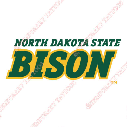 North Dakota State Bison Customize Temporary Tattoos Stickers NO.5598
