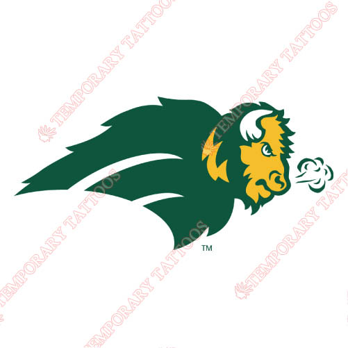 North Dakota State Bison Customize Temporary Tattoos Stickers NO.5599