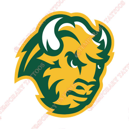 North Dakota State Bison Customize Temporary Tattoos Stickers NO.5600
