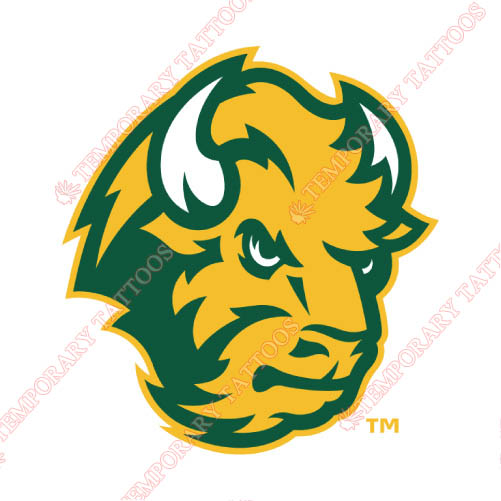 North Dakota State Bison Customize Temporary Tattoos Stickers NO.5601