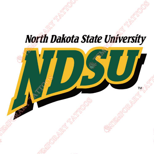 North Dakota State Bison Customize Temporary Tattoos Stickers NO.5603