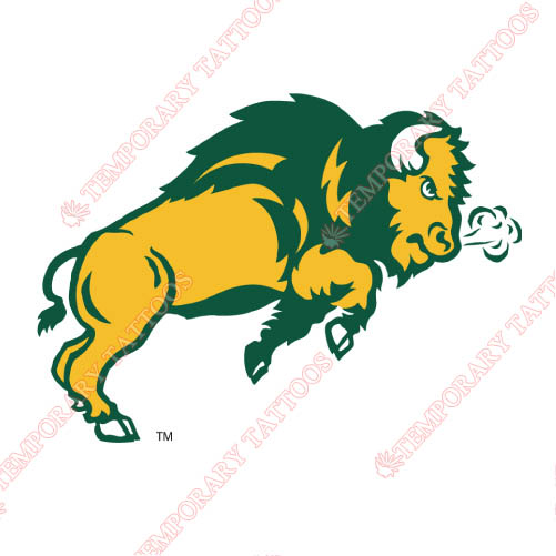 North Dakota State Bison Customize Temporary Tattoos Stickers NO.5604