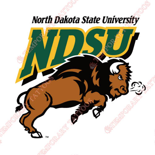 North Dakota State Bison Customize Temporary Tattoos Stickers NO.5605