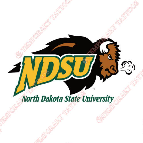 North Dakota State Bison Customize Temporary Tattoos Stickers NO.5606