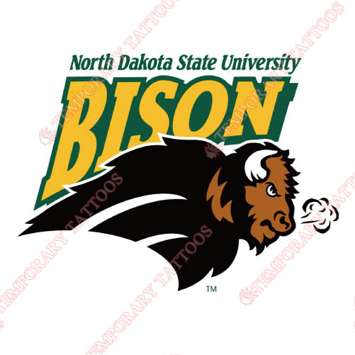 North Dakota State Bison Customize Temporary Tattoos Stickers NO.5608