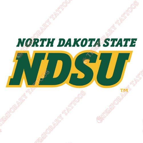 North Dakota State Bison Customize Temporary Tattoos Stickers NO.5609